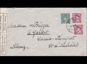 B&M: Brief von Bude in die Schweiz - Vorläufer mit Devisen Kontrolle