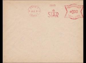B&M: Brief mit Freistempel Prag 000 - Musterabschlag 1939