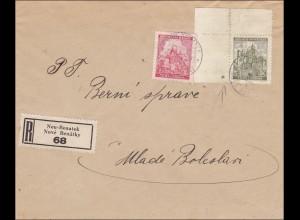 B&M: R-Brief von Neu-Benatek - Eckrand Marke mit Stern