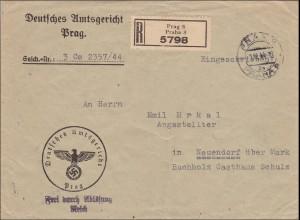 B&M: Amtsgericht Prag nach Neuendorf 1944