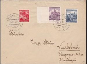 B&M: Brief aus Strancice nach Karlsbad 1940