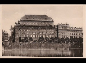 B&M: Ansichstkarte Prag Nationaltheater 1943