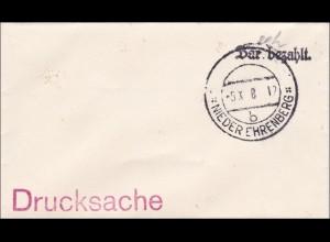 B&M: kleiner Drucksachebrief - bar bezahlt - Nieder Ehrenberg