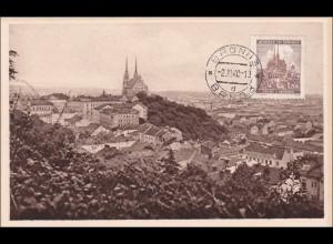 B&M: Ansichtskarte Brünn 1940, Maximumkarte