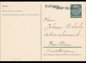 Sudetenland: Ganzsache Postamt Brünn