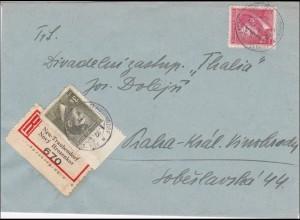 B&M: Einschreibebrief von Neu Traubendorf 1944
