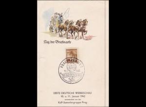 B&M: Tag der Briefmarke 1942 - Sonderstempel Prag