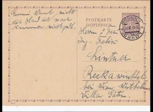 B&M: Ganzsache aus Brünn 1941, P9/01