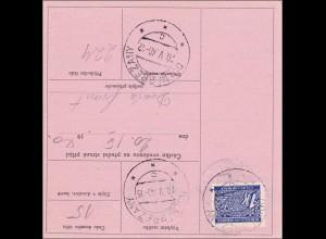 B&M: 1940 Formular frankiert