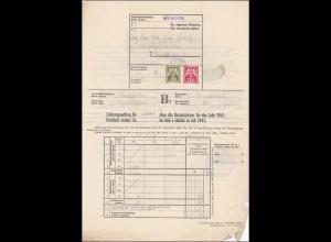 B&M: Strakonitz Zahlungsauftrag Umsatzsteuer 1941