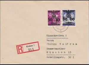 Generalgouvernement (GG): Einschreiben von Krakau nach München - Kammermusiker