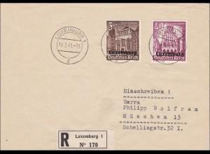 Luxemburg: 1941, Einschreiben nach München