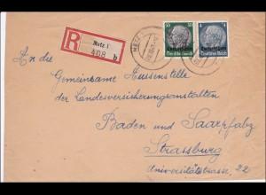 Lothringen: 1941, Einschreiben Metz nach Strassburg