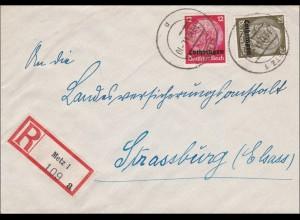 Lothringen: Einschreiben von Metz nach Strassburg