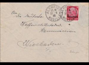 Lothringen: Algrange/Mosel an Waffenstillstands Kommission in Wiesbaden 1940