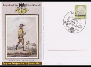 Ganzsache P3, Tag der Briefmarke 1941