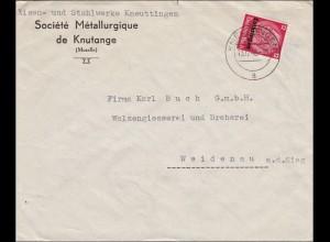 Lothringen: Eisenwerk Kneuttingen nach Weidenau 1940