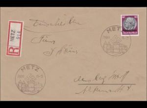 Lothringen: Einschreiben aus Metz 1940