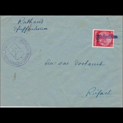 Elsass: Rathaus Pfaffenheim nach Rufach
