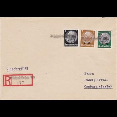 Elsass1940: Einschreiben Bischofsheim nach Camburg 1940