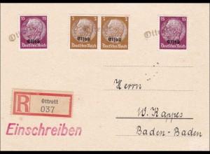 Elsass: Einschreiben von Ottrott nach Baden-Baden