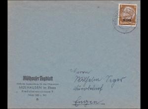 Elsass: Mühlhouser Tagblatt/Mühlhausen nach Engen 1941