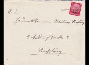 Elsass: Brief von Harkirchen 1940