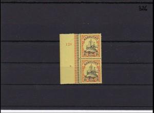 Karolinen MiNr. 11 ** postfrisch Seitenrand mit Plattennummer