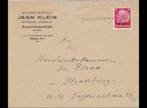 Elsass: Breuschwickersheim nach Strassburg Handwerkskammer 1940