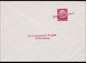 Elsass: Stempel Banzenhein 1940