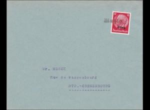 Elsass: Brief nach Cronenbourg 1940