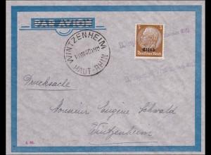 Elsass: Brief von Wintzenheim 1940
