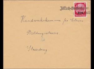 Elsass: Illkirch Grafenhstaden nach Strassburg 1940