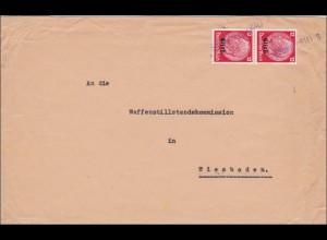 Elsass: Brief von Strassburg nach Wiesbaden - Waffenstillstands Kommission 1940