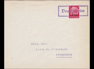 Elsass: Brief aus Vendenheim nach Strasbourg