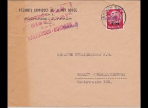 Elsass: Brief aus Dornach nach Berlin 1940