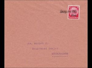 Elsass: Brief aus Stoßheim nach Strassburg 1940