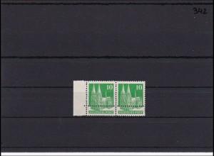 BiZone Michel Nr. 80, postfrisch, enge Zähnung im Paar mit schöner Doppelzähnung