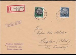 Elsass: Einschreiben 1940 nach Sieglar