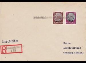 Elsass: Einschreiben von Bischofsheim nach Camburg
