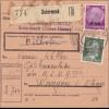 Elsass:Paketkarte Schirmeck nach Wangen/Elsass an Ortskassenleiter der NSXX 1941
