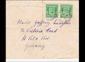 Kanalinseln: Brief von Guernsey 1941