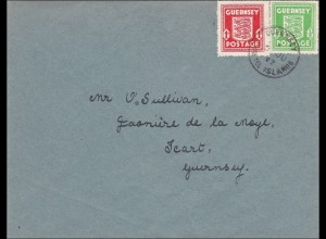 Kanalinseln: Brief von Guernsey 1942