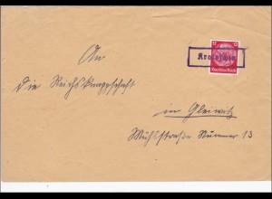Krotoschin auf Brief nach Gleiwitz