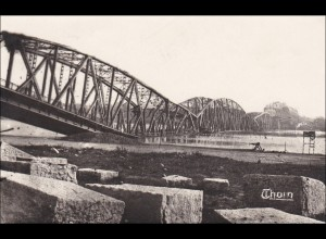 Thorn, Ansichtskarte 1942 , zerstörte Brücke