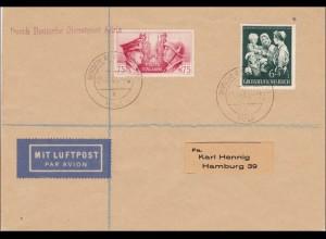Deutsche Dienstpost Adria: Luftpost Brief an Hennig 1944