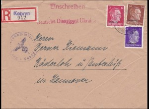 Ukraine: Deutsche Dienstpost Gebietskommisar Kobryn