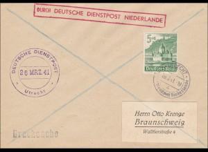 Niederlande: Deutsche Dienstpost Utrecht - Drucksache 1941