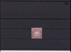 Württemberg MiNr. 19 yb, gestempelt, seltene Farbe, BPP signiert Irtenkauf