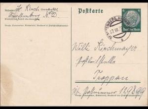 Postkarte: Ganzsache Feldpost Übung 22.VIII 1939, Senftenberg Niederöst